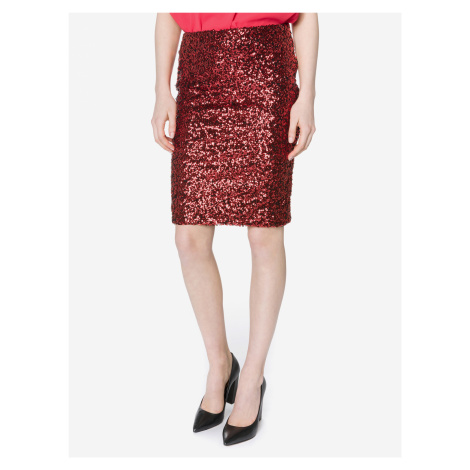 Glamour Sukně Vero Moda Červená