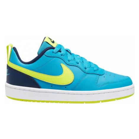 Nike COURT BOROUGH LOW 2 GS modrá - Detská voľnočasová obuv