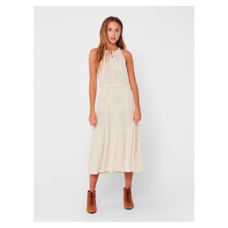 Krémové šaty Jacqueline de Yong Lima
