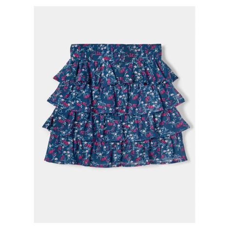 Modrá dievčenská kvetovaná sukňa name it Foda