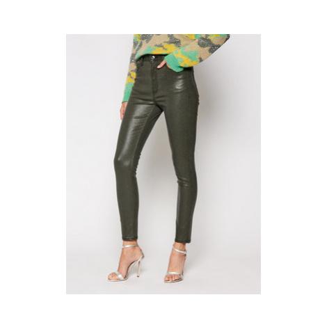 Guess Skinny Fit džínsy W0BA26 WDCA1 Zelená Skinny Fit