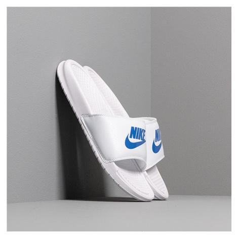 Nike Benassi Jdi White/ Varsity Royal-White