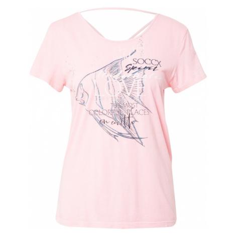 Soccx Tričko  ružová / zmiešané farby