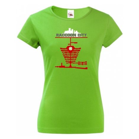 Dámské tričko Racoon city - tričko zo série Resident Evil