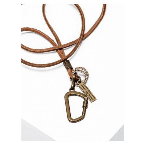 Pánsky náhrdelník na remienku A212 - hnedý - universal