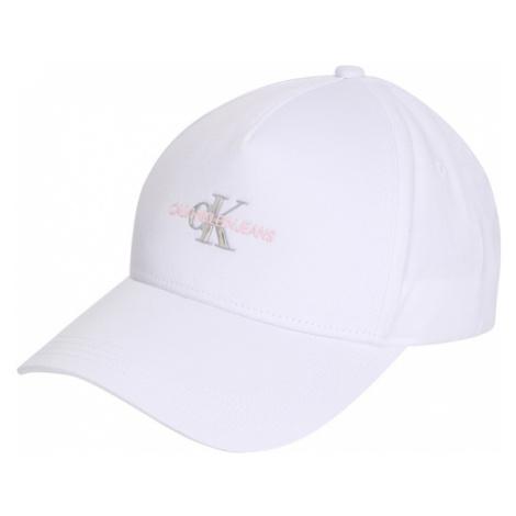 Calvin Klein Jeans Čiapka  biela / strieborná / ružová