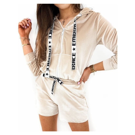 Women's sweatshirt set EMBRACE beige AY0315 DStreet