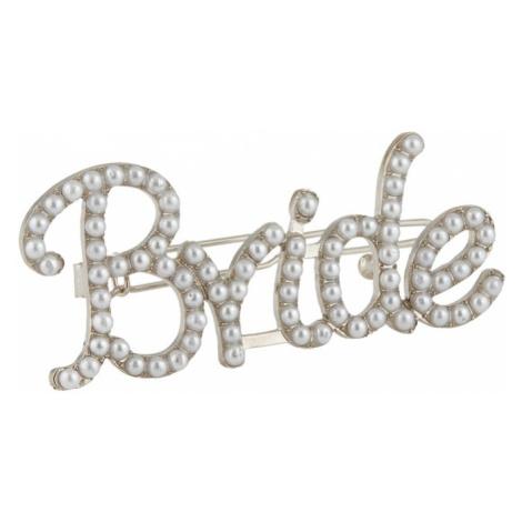 PIECES Bižutéria do vlasov 'BRIDE'  strieborná