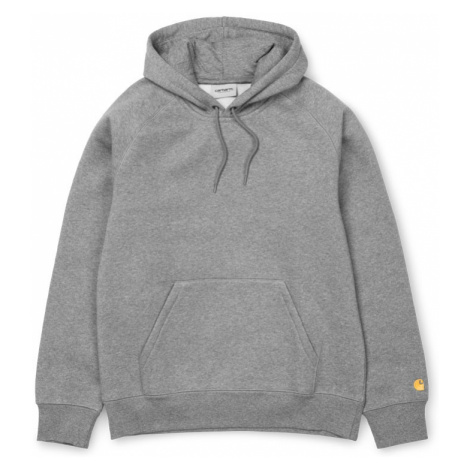 Carhartt WIP Hooded Chase Sweatshirt - Grey Heather-XL šedé I026384_V6_90-XL