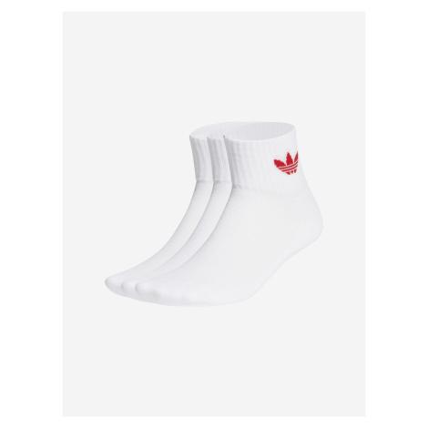 Mid-Cut Crew Ponožky 3 páry adidas Originals Biela