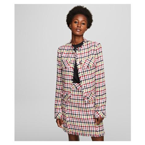 Sako Karl Lagerfeld Houndstooth Boucle Jacket