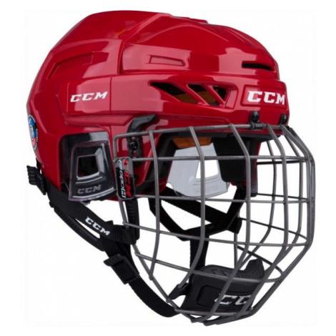 CCM FITLITE 90 COMBO SR červená - Hokejová prilba