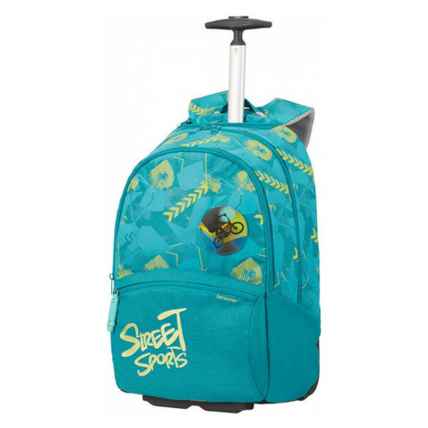 Samsonite Školský batoh na kolieskach Color Funtime 26 l - tyrkysová