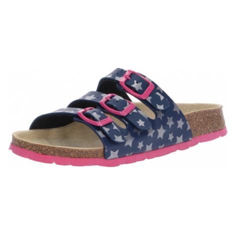 SUPERFIT Sandále  tmavomodrá / ružová / strieborná