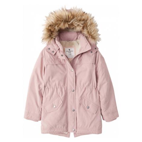 Abercrombie & Fitch Zimná bunda  ružová / hnedá / krémová