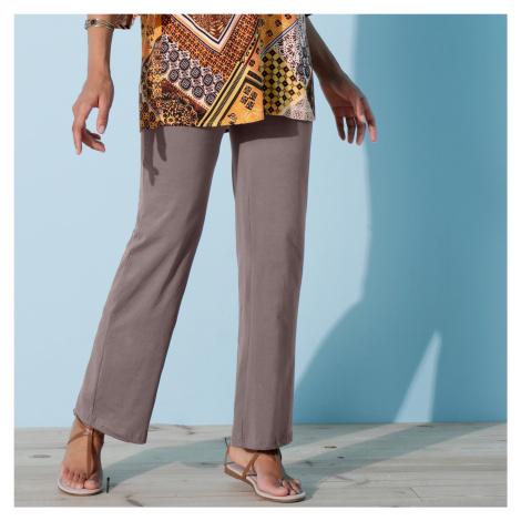 Blancheporte Široké nohavice z úpletu ľadovo gaštanová