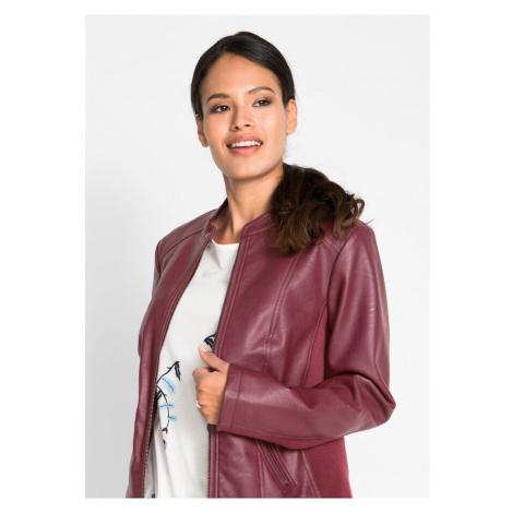 Koženková bunda s bočnými strečovými vsadkami