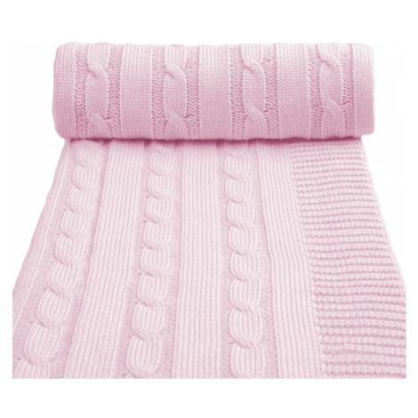 T-TOMI Pletená deka, ružová