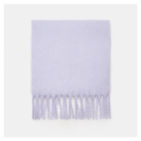 Cropp - Hladký šál so strapcami - Purpurová