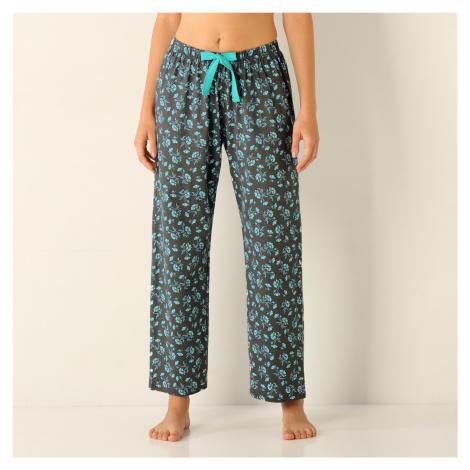 Blancheporte Pyžamové nohavice, džersej potlač bledomodrá/sivá