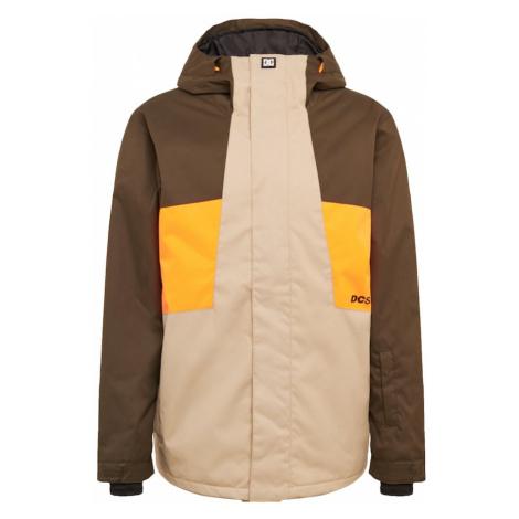 DC Shoes Outdoorová bunda 'Defy'  béžová / oranžová / hnedá