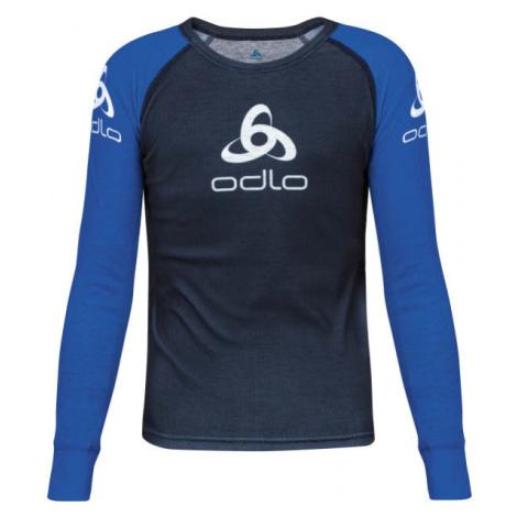 Odlo SUW KID'S TOP CREW NECK L/S ORIGINALS LIGHT modrá - Detské tričko