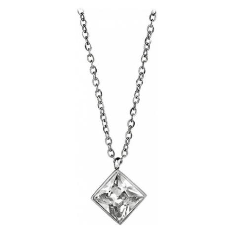 Troli Oceľový náhrdelník s štvorcovým príveskom