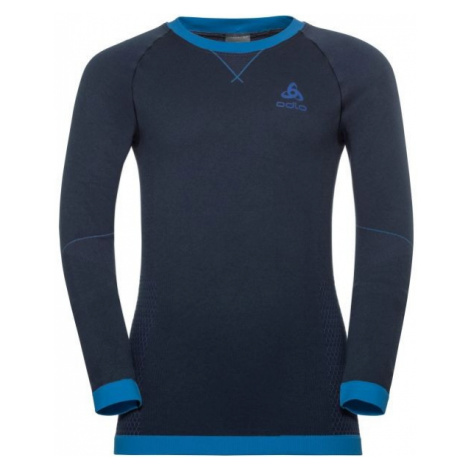 Odlo BL TOP CREW NECK L/S PERFORMANCE WARM KI modrá - Detské tričko