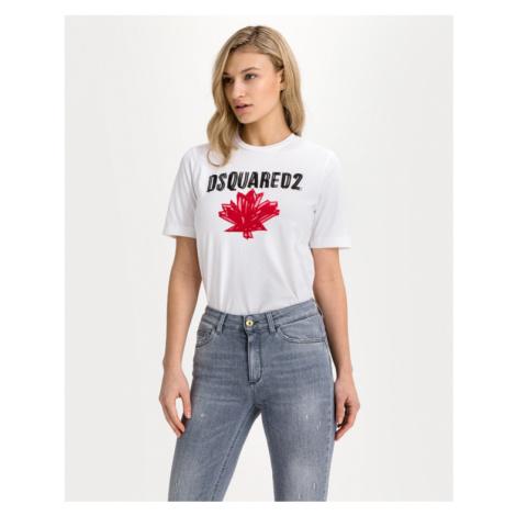 DSQUARED2 Canada Flag Tričko Biela Dsquared²