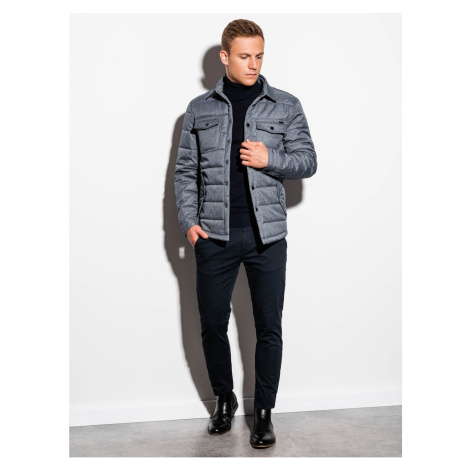 Ombre Clothing Men's mid-season quilted jacket C452