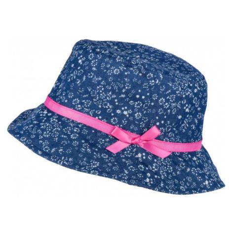 Lewro JANKA modrá - Dievčenský plátený klobúčik