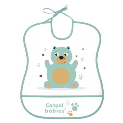 CANPOL BABIES Plastový podbradník mäkký Cute Animals macko