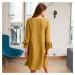 Blancheporte Šaty s kontrastným lemovaním šafranová