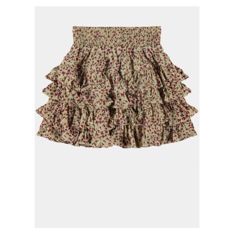 Béžová dievčenská kvetovaná sukňa name it