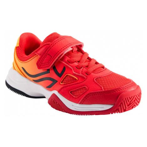 ARTENGO Detská tenisová obuv TS560 oranžovo-červená ČERVENÁ 34