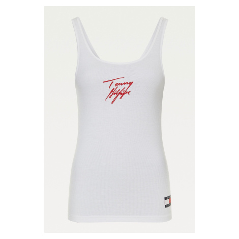 Tommy Hilfiger tielko z organickej bavlny dámske - biele Veľkosť: M