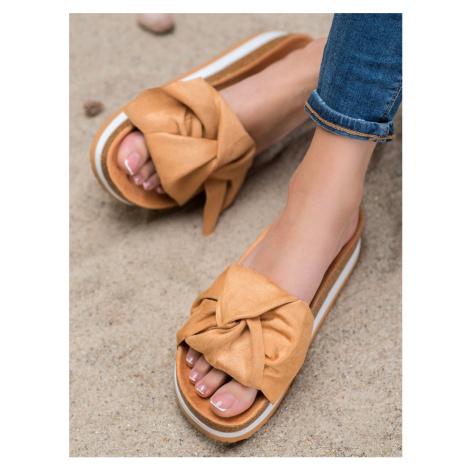 SEASTAR CASUAL SUEDE FLIP-FLOPS shades of brown and beige