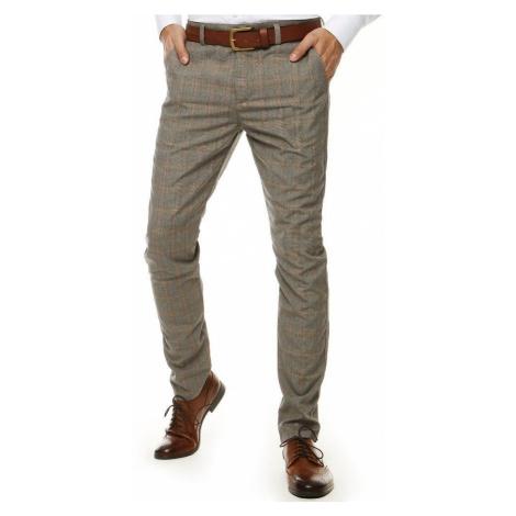 Zaujímavé nohavice v šedej farbe DStreet