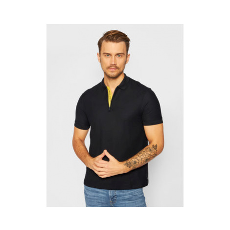 Armani Exchange Polokošeľa 6HZFAC ZJLEZ 1200 Čierna Regular Fit