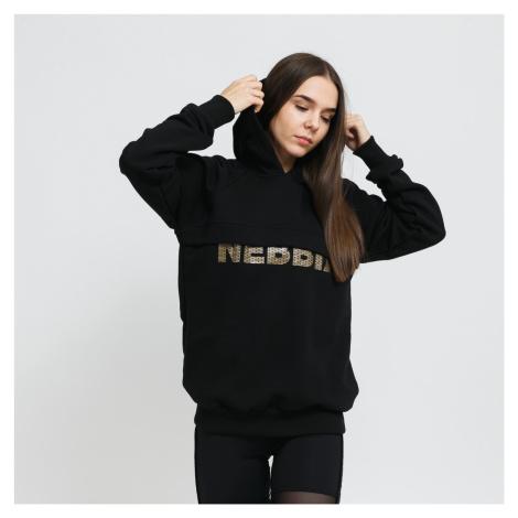 Nebbia Intense Focus Hoodie čierna / zlatá