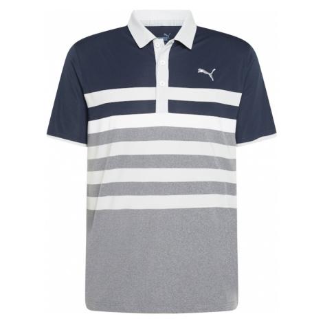 PUMA Funkčné tričko 'One Way'  sivá melírovaná / biela / tmavomodrá