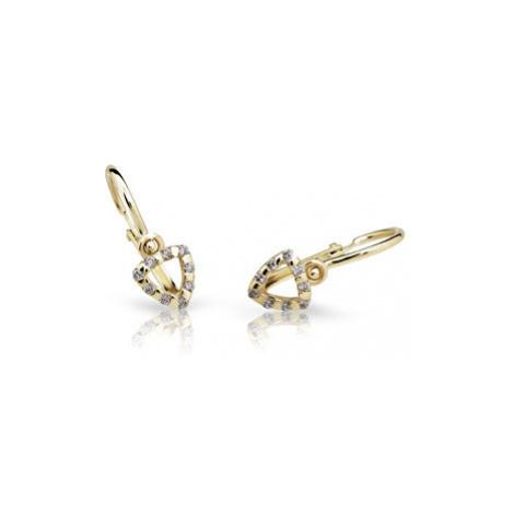 Cutie Jewellery Detské náušnice C2155-10 bílá