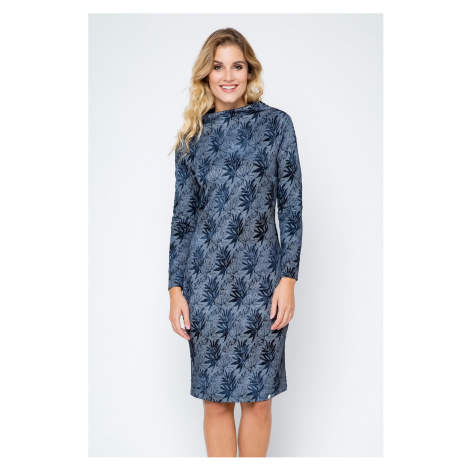 Modro-sivé šaty 240157 Enny