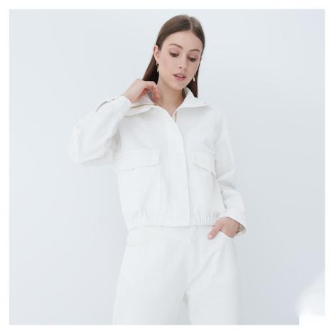 Mohito - Krátka džínsová bunda - Krémová