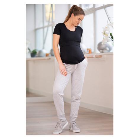 Sivé tehotenské teplákové nohavice Hadley