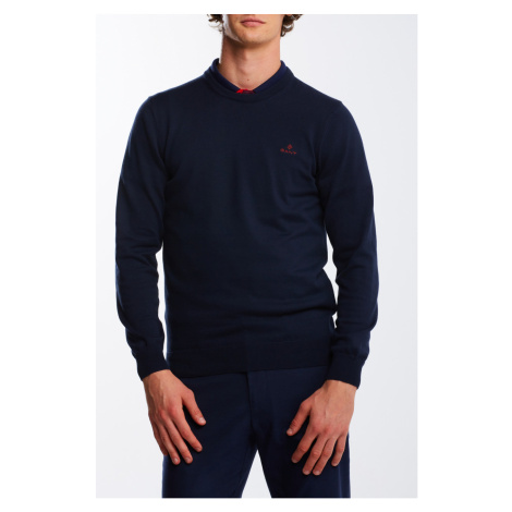 SVETER GANT STRETCH COTTON CONTRAST C-NECK