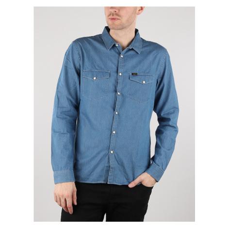 Western Košile Lee Modrá