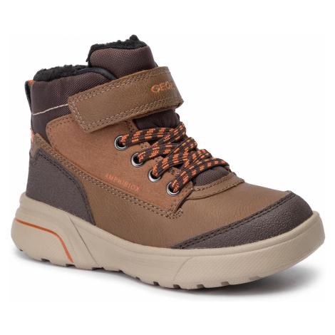 Outdoorová obuv GEOX - J Sveggen B Abx B J947UB 0MEFU C0944 S Brwon/Dk Orange