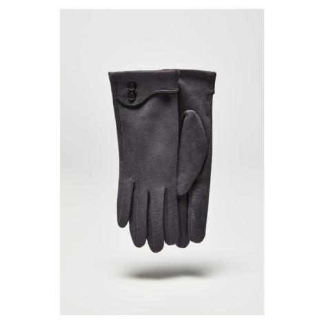 Sivé dámske módne rukavice