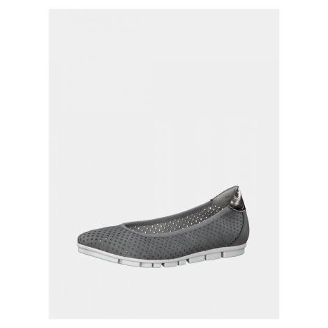 Grey perforated ballerinas s.Oliver
